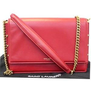 YVES SAINT LAURENT ZOE LAMBSKIN LEATHER